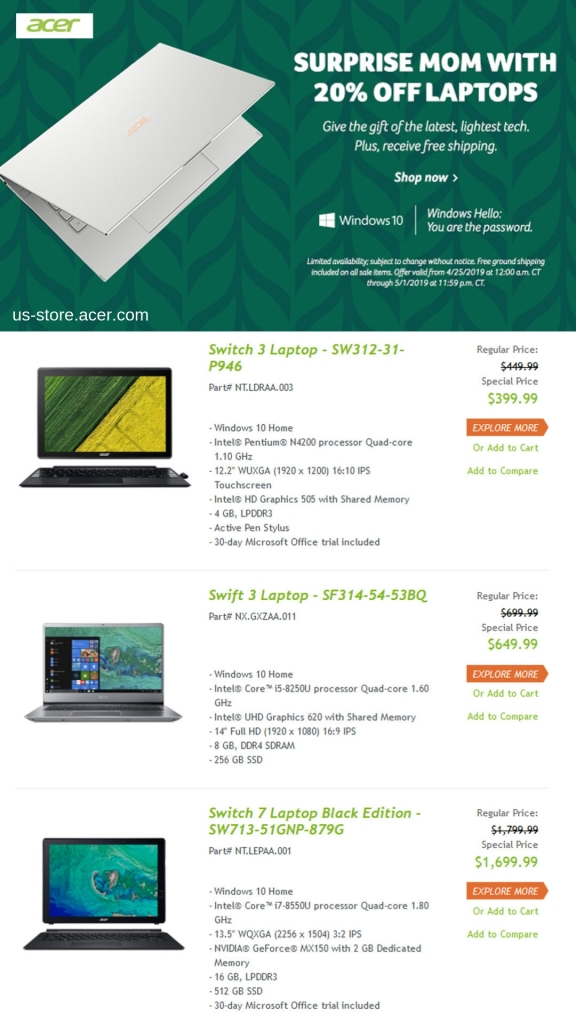 Shop for Mother's Day and Save on best-selling PCs